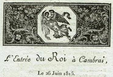 Autographes passe present louis xviii l 39 entr e du roi cambrai le 26 juin 1815 po sie par - Le roi du matelas cambrai ...