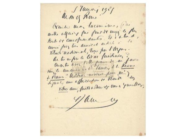 autographe francis jammes