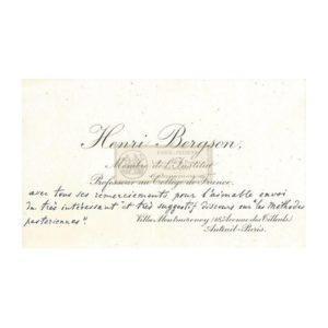 autographe bergson