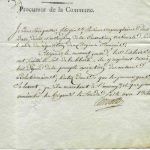 autographe pierre-gaspard chaumette