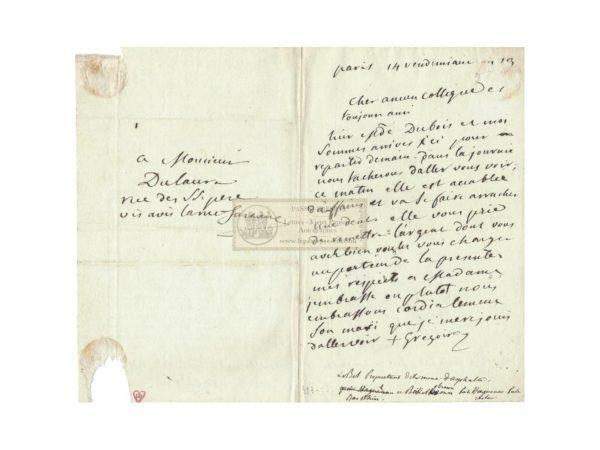 signature abbé dubois