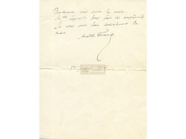 signature anatole france