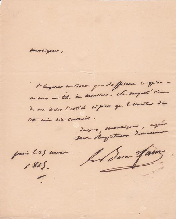 baron fain autographe