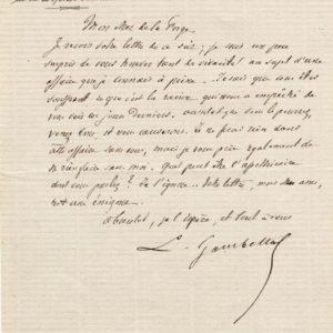 Léon Gambetta Autographe