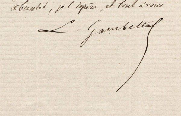 Léon Gambetta signature