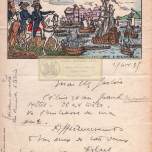 Abel Gance Autographe Signature