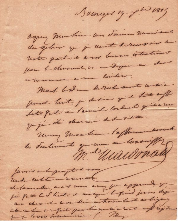 marechal empire macdonald autographe