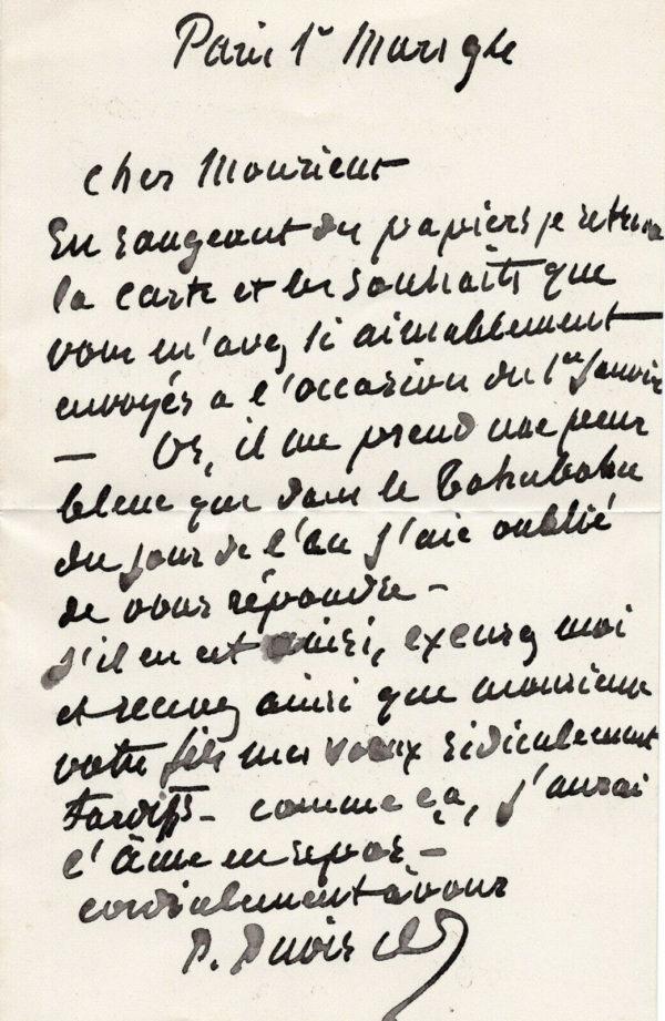 pierre puvis de chavannes autogrphe signature