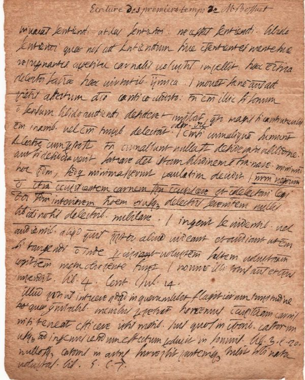 manuscrit autographe bossuet