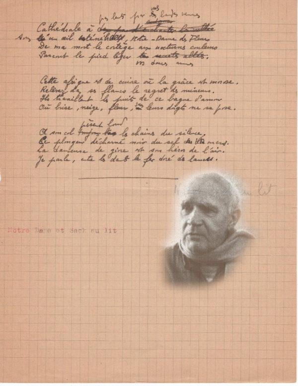manuscrit autographe jean genet