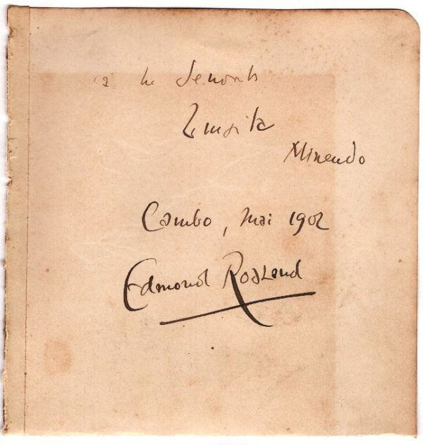 autographe edmond rostand