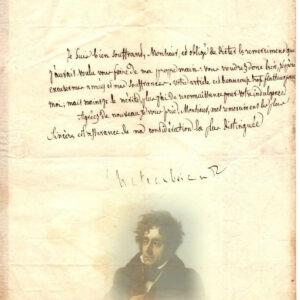 autographe chateaubriand