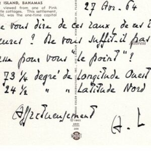 autographe saint-john-perse